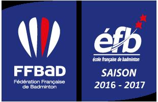 École Fran&ccedilaise De Badminton - Saison 2016 - 2017